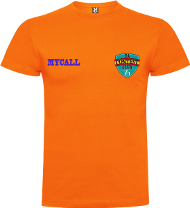 camiseta naranja todo color