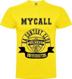 Camiseta Universitas amarilla